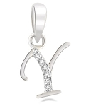 Diamond Initial Pendant 0.10Ct White Gold