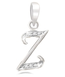 Initial Necklace 0.10Ct Diamond White Gold