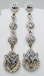 Chandelier Earrings 4.00Ct Diamond Natural Certified Solid White Gold