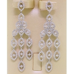 Chandelier Earrings 5.55Ct Diamond Natural Certified Solid White Gold