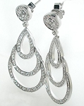 Chandelier Earrings Anniversary  2.00Ct Diamond Natural Certified Solid Gold