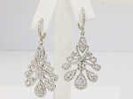 Diamond Chandelier Earrings 5.00Ct Natural Certified Solid Gold Wedding
