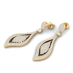 Chandelier Earrings Wedding 3.65Ct Diamond Natural Certified Solid White Gold