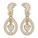 Diamond Chandelier Earrings 2.50Ct Natural Certified Solid White Gold