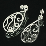 Chandelier Earrings 4.50Ct Diamond  Natural Certified Solid White Gold
