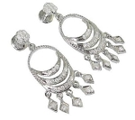 Gold Chandelier Earrings 1.00Ct Diamond Wedding