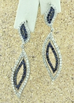 handmade Gemstone Earrings 1.50Ct Diamond 1.50Ct Blue Sapphire Natural Certified Solid Gold