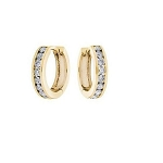 White Gold Hoop Earrings 1.00 Ct Diamond Natural Certified Solid Gold