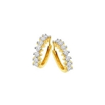 Hoop Earrings 1.00 Ct Diamond Natural Certified Solid Gold
