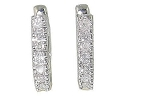Diamond Hoops 0.50 Ct Natural Certified Solid Gold Earrings