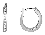 Hoops Diamond Earrings 0.40 Ct Hi - Si2 14K Gold Anniversary Gift