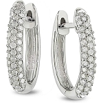 Hoop Earrings 1.50 Ct Hi - Si2 14K Natural Certified Solid Gold Wedding