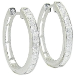 Diamond Hoops 1.00 Ct Hi 14K Natural Certified Solid Gold Earrings