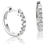 Hoops Diamond Earrings 0.51 Ct 14K Natural Certified Solid Gold