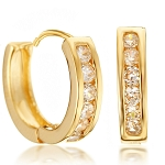 Diamond Hoops 0.60 Ct 14K Natural Certified Solid Gold Earrings