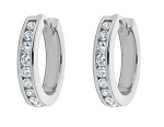 Diamond hoops Earrings 0.60 Ct Ij - Si2 14K Natural Certified Solid Gold