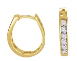 Hoops Diamond Earrings 0.50 Ct 14K Natural Certified Solid Gold Wedding