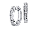 Hoop Earrings 0.50 Ct Ij - Si1 14K Natural Certified Solid Gold Wedding Anniversary