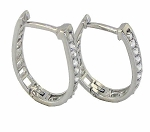 Diamond hoops Earrings 0.75 Ct Gh 14K Natural Certified Solid Gold