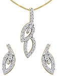 Gold Pendant Set 0.85 Ct Diamond Small Diamond Necklace Natural Certified