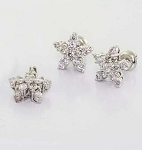 Diamond Pendant Charms 0.45 Ct Solid Gold Natural Certified