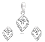 Diamond Necklace & Pendant 0.45 Ct Solid Gold Natural Certified
