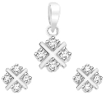 Small Diamond Pendant Set 1.72 Ct Solid Gold Natural Certified