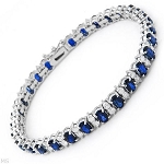 Beautiful Diamond Bracelets 2.25 Ct Blue Sapphire 8.70 Ct Solid Gold Natural Certified