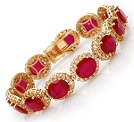 Diamond Ruby Bracelet 3.50 Ct Gemstone 15.40 Ct Solid Gold Natural Certified