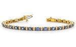 Gemstone Bracelet 2.25 Ct Iolite 7.50 Ct Solid Gold Natural Certified