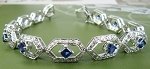 Sapphire Bracelet Diamond 5.05 Ct Gemstone 3.50 Ct Solid Gold Natural Certified