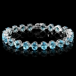 Diamond Gemstone Bracelets 2.20 Ct Topaz 11.00Ct Solid Gold Natural Certified