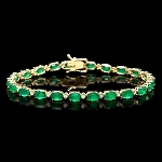 Emerald bracelet 2.10 Ct Diamond 7.75 Ct Gemstone Solid Gold Natural Certified