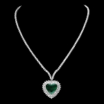 Statement Necklace 10.00 Ct Natural Certified Diamond Set Online 4.55Ct Emerald Solid  Gold  Engagement