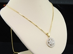 Gold Pendant Set 1.54 Ct Diamond Solid Gold Natural Certified