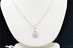 Gold Pendant Set With Earrings 2.7 Ct Diamond Solid Gold Natural Certified