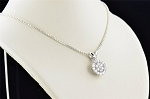 Small Diamond Pendant Set 1.2 Ct Solid Gold Natural Certified
