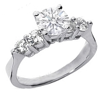 Elegant Engagement Rings 1.00Ct Diamond White Gold Solitaire Natural Certified