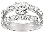 Contemporary Engagement Rings 1.50Ct Diamond White Gold Solitaire Natural Certified