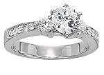 Engagement Wedding Rings 1.25Ct Diamond Solitaire White Gold Solitaire Natural Certified