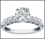 Wedding and Engagement Rings 1.00Ct Diamond White Gold Solitaire Natural Certified