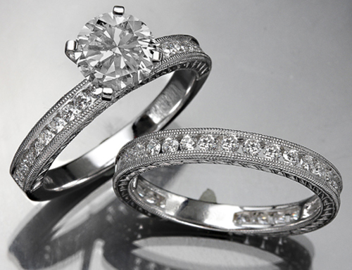 Engagement Wedding Ring Set 3.00Ct Diamond White Gold Solitaire Natural Certified