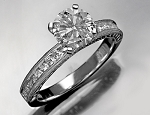 Beautiful Engagement Rings 1.25Ct Diamond Solid White Gold Natural Certified
