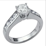 Contemporary Engagement Rings 1.25Ct Diamond White Gold Natural Certified