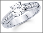 Engagement Rings Sale 1.40Ct Diamond White Gold Solitaire Natural Certified