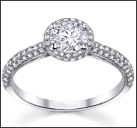 Engagement Wedding Ring 2.00Ct Diamond Solid White Gold Solitaire Natural Certified