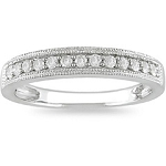 Diamond Wedding Bands 0.75Ct Solid White Gold Ring Natural Certified
