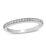 White Gold Wedding Rings 0.50Ct Diamond Band Natural Certified