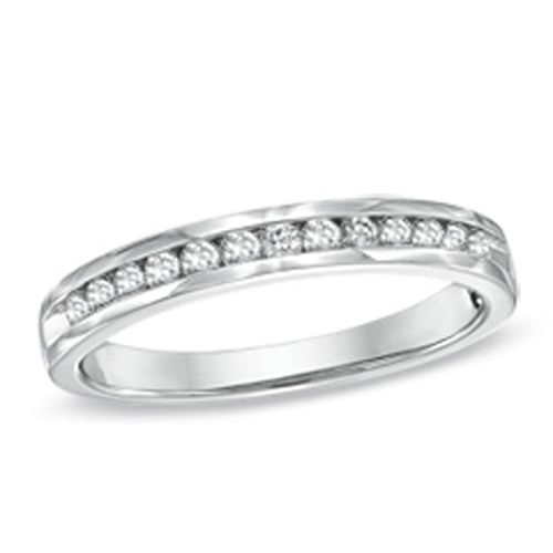 Diamond Anniversay Bands 0.75Ct Solid White Gold