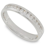 Diamond Eternity Rings 1.50Ct Solid White Gold Band Natural Certified